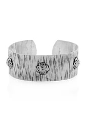 Floral Rustic Cuff Bracelet - Voylla