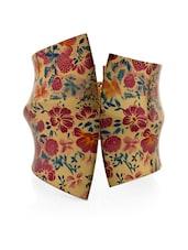 Floral Design Cuff Bracelet - Voylla