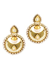Festive Dangler Earrings With Pearls - Voylla