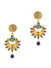 Charming  Earrings With Blue Stones - Voylla