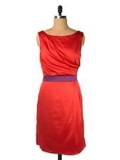 Bright Red Dress With Deep V-back - Ozel Studio
