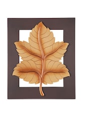 Wood Carving Maple Leaf Wall Art - Woodpeckers