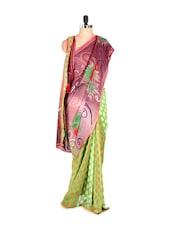 Beautiful Printed Art Silk Saree - Saraswati