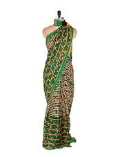 Stunning Green Art Silk Saree With Matching Blouse Piece - Saraswati
