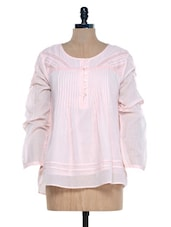 Baby Pink Full Sleeves Top - Mind The Gap