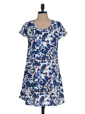 White Printed Short Sleeve Dress - Mind The Gap