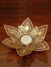 Lotus Glass Candle Stand - The Yellow Door