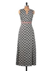 Monochrome Printed Maxi Dress - Nineteen