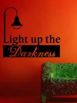 Light Up The Darkness Wall Sticker-I