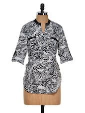 Zebra Print Polyester Top - Purys