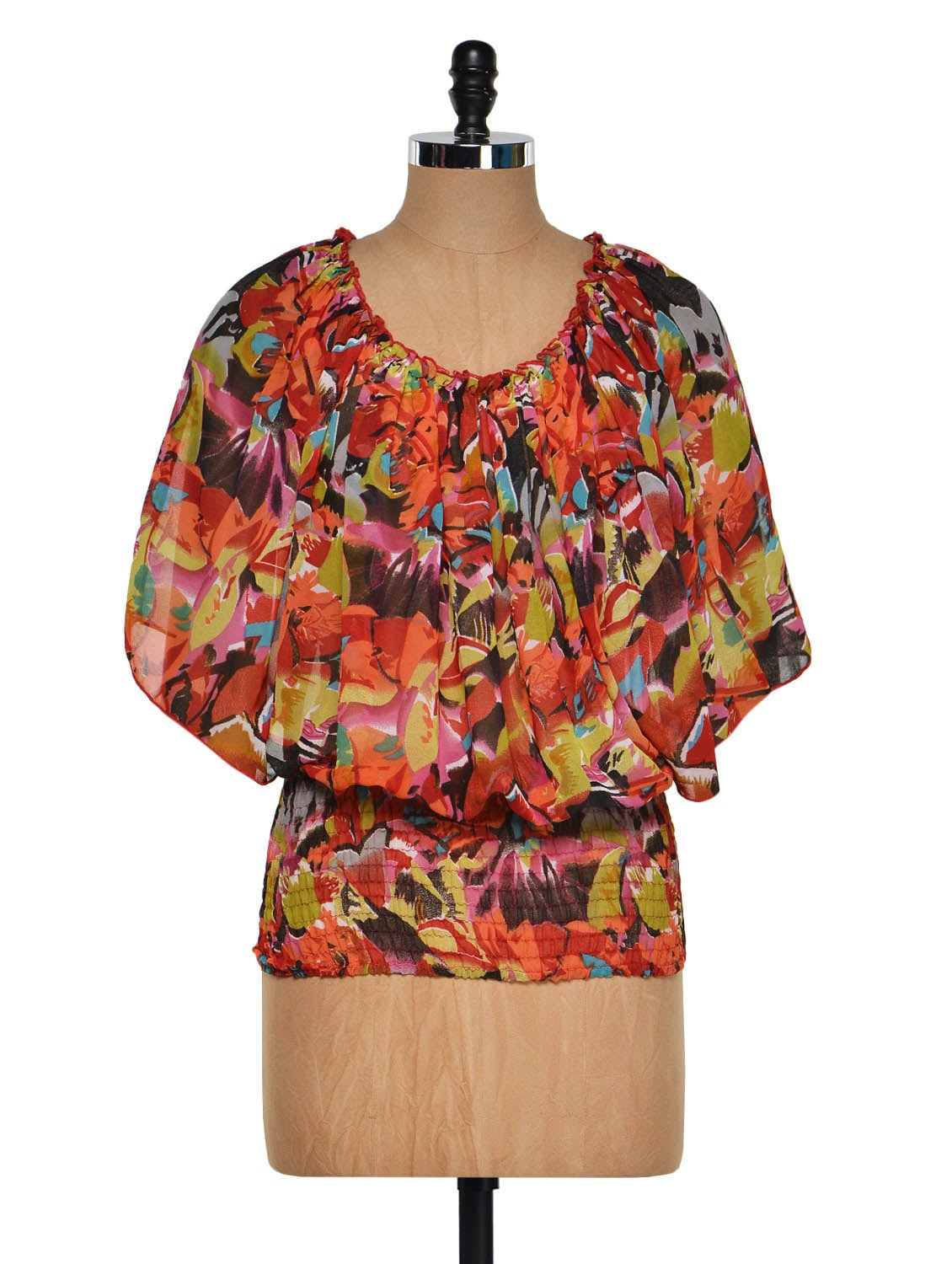 Floral Poncho Style Top - Purys