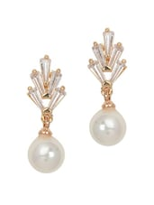 Unique Gold Earrings With Pearl Drop - Xpressionss