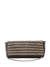 Unique Grey Sequined Sling Bag - Rediscoverfashions