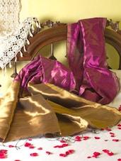 Bright Pink And Gold Saree With Zari Work - Cotton Koleksi