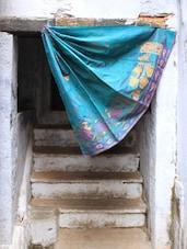 Blue Jacquard Art Silk Saree - BANARASI STYLE