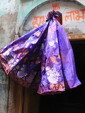Blue Bliss Art Silk Saree - BANARASI STYLE