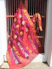 Chic Pink Banarasi Art Silk Saree - BANARASI STYLE