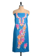 Blue Embroidered Dress Material - Inara Robes