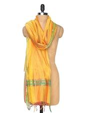 Gold Striped Dupatta - Dupatta Bazaar