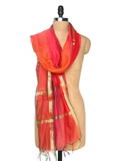 Red Striped Dupatta - Dupatta Bazaar