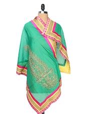 Chic Green Silk Ethnic Dupatta - Dupatta Bazaar