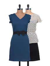 Set Of Polka Dotted Dress And A Cute Blue Dress - @ 499