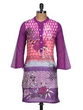 Bright Purple Printed Kurti - M MERI