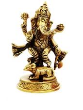 Antique Brass Lord Ganesha Idol - Gifts By Meeta