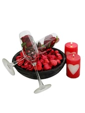 Chocolate And Rose Glasses Hamper - Gifts By Meeta