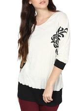Casual White And Black Top - L'elegantae