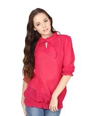 Solid Pink Pleated Top - L'elegantae