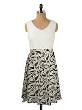 Summery Printed Monochrome Dress - Avirate