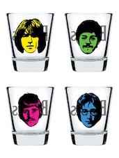 The Beatles Shot Glass Set Of 4 - EK DO DHAI