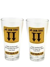 Natural Bottoms Up Beer Glass- Set Of 2 - EK DO DHAI