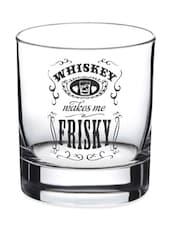 Frisky Whiskey Glass- Set Of 2 - EK DO DHAI