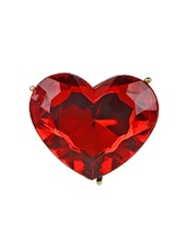 Red Heart Stone Ring - Fashionography