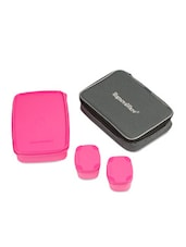 Pink Compact Lunch With Bag - Signoraware