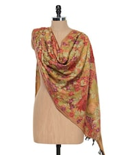 Gold Kashmiri Embroidered Stole - Inara Robes