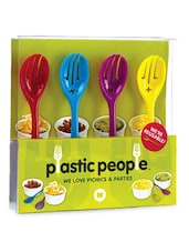 Plastic Face Shaped Spoon Set Of 4 - Cool Trends