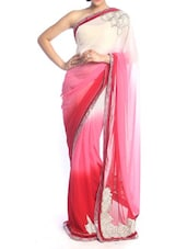 Ombre Finish Pink Art Silk Saree - Saraswati
