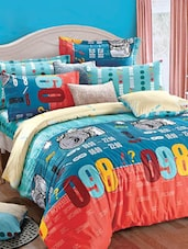 Multi-coloured Double Bedsheet With Pillow Cover - Bianca - 937003