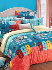 Multi-coloured Double Bedsheet With Pillow Cover - Bianca