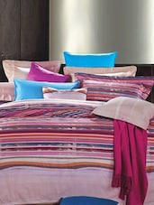 Magenta Double Bedsheet With Pillow Cover - Bianca