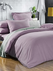 Solid Mauve Double Bedsheet With Pillow Cover - Bianca