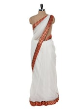 Ethereal White Net Saree - Istyledeals