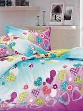 Multi-coloured Double Bedsheet With Two Pillow Cover -  Frábær - 937607