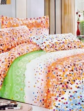 Multi-coloured Double Bedsheet With Two Pillow Cover -  Frábær - 937617