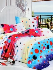 Multi-coloured Double Bedsheet With Two Pillow Cover -  Frábær - 937619
