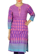 Elegant Purple Printed Kurti - Anubha