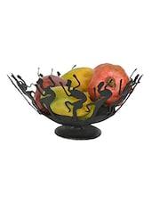 Black Wrought Iron Tribal Fruit Bowl - Chinhhari Arts